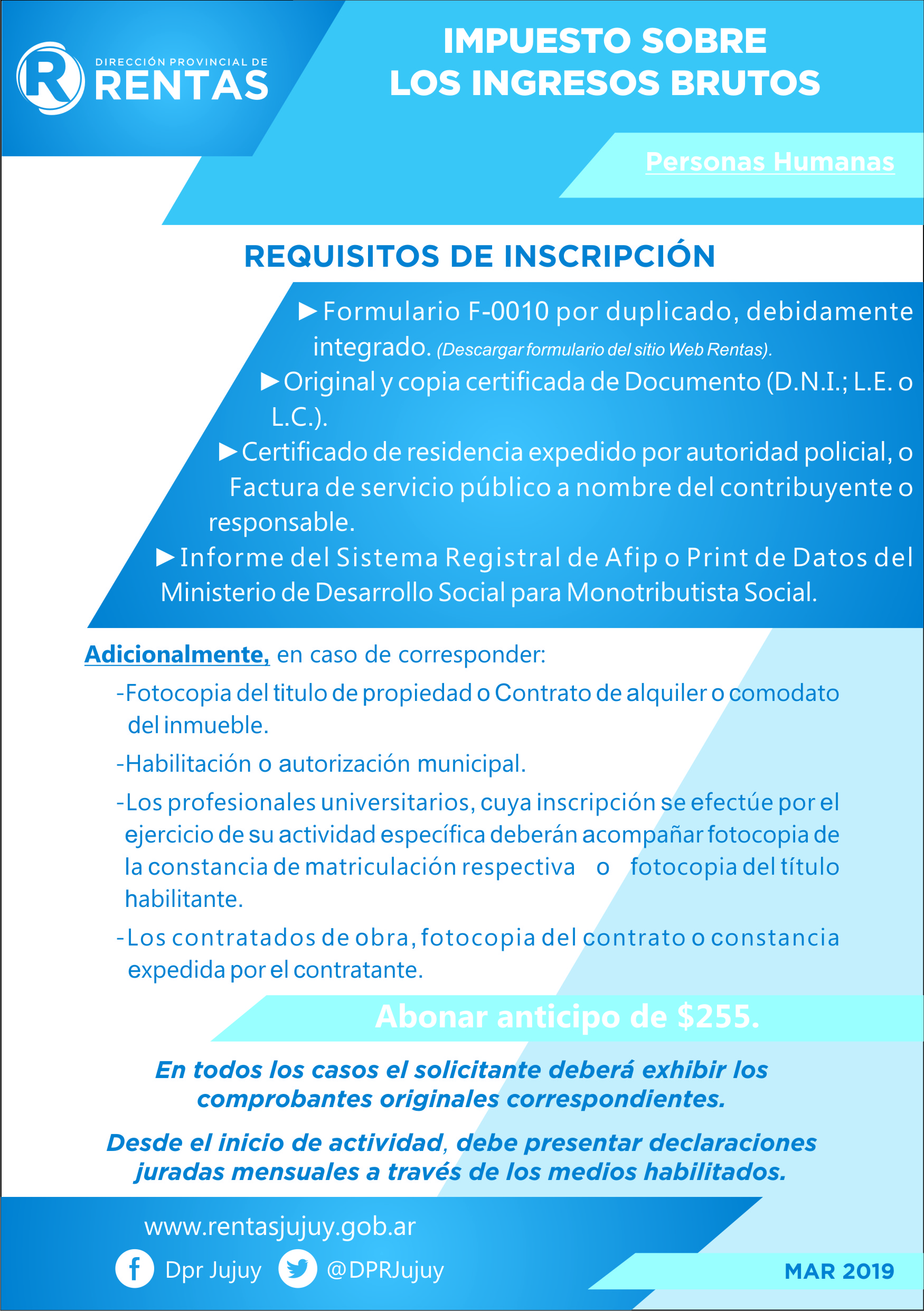 Ingresos brutos direcci n provincial de rentas for Inscripcion ingresos brutos